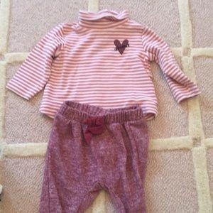 Zara Baby Girl EUC 3-6M Turtleneck and Pants